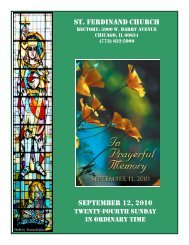 st. ferdinand church september 12, 2010 - Parafia św. Ferdynanda w ...