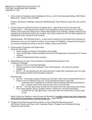 Board Minutes - January 31, 2011 - Town of Hull