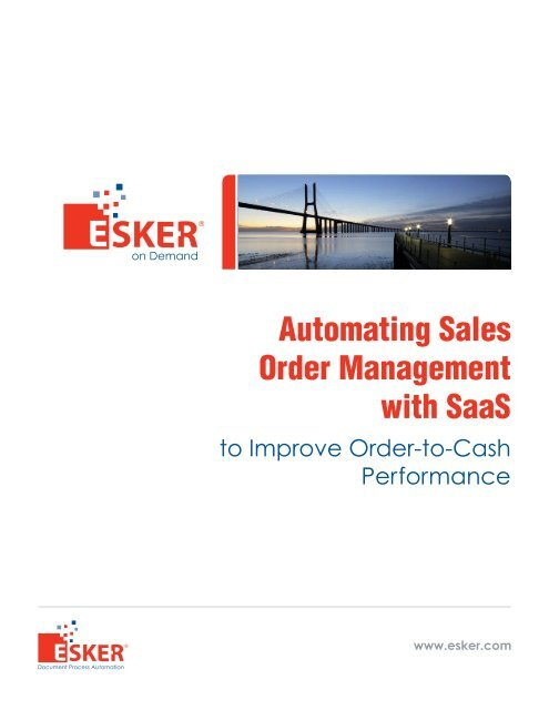 Automating Sales Order Management with SaaS - Esker