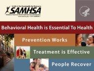 Behavioral Health 2010 - Women, Children and Families