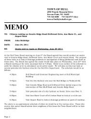 Board Agenda (on site roads visit) - June 29, 2011 - Town of Hull