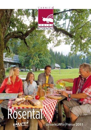Unterkünfte|Preise 2011 - Carnica Region Rosental