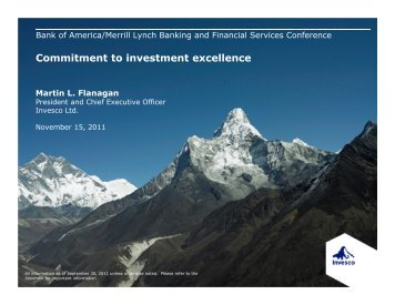 Commitment to investment excellence - Invesco