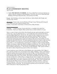 Plan Commission Minutes - Town of Hull