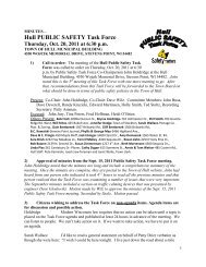 Public Safety Task Force Minutes - Town of Hull