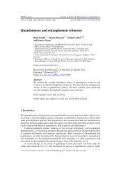 Quantumness and entanglement witnesses - Infn
