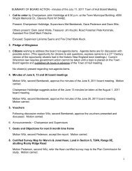 Board Minutes - July 11, 2011 - Town of Hull