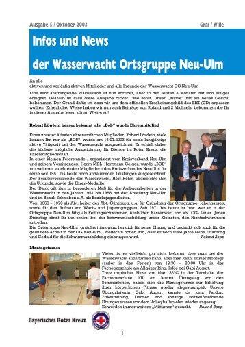 Infos und News 5 - Wasserwacht Ortsgruppe Neu-Ulm