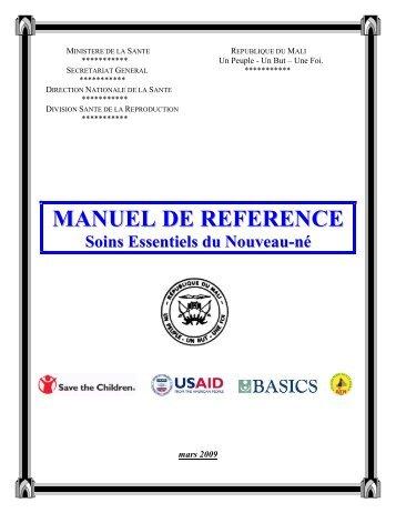 Manuel de Référence: Soins Essentiels du Nouveau-né (Mali) - basics