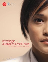 Investing in a Tobacco Free Future - Partnership for Prevention