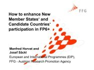 How to enhance New Member States' and Candidate Countries ...