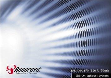 YAMAHA YFM 350 R (2006) Slip#On Exhaust ... - Akrapovic Auspuff
