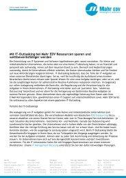 Mit IT-Outtasking bei Mahr EDV Ressourcen sparen und ...