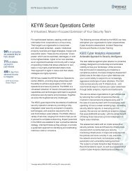 KEYW Secure Operations Center