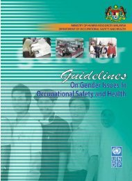 7. Guidelines on Gender Issues in Occupational Safety ... - Dosh