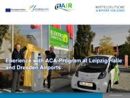 Mitteldeutsche Airport Holding Eperience with ACA ... - DAIR Project