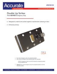 ACCURATE 9103 2 3//4 Mortise Body Only No Deadbolt Locksmith