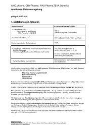 AWD.pharma, GRY-Pharma, IVAX Pharma,TEVA Generics ...