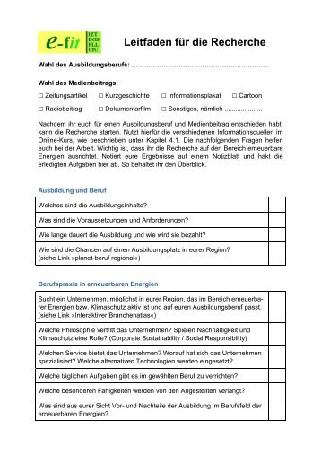 Arbeitsblatt 04: Turbine und Generator - eLearning Erneuerbare ...