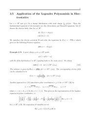 3.5 Application of the Legendre Polynomials in Elec- trostatics