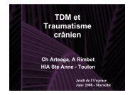 tdm et traumatisme cranien - SMUR BMPM