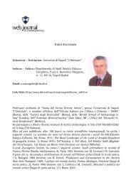 Carlo ZACCAGNINI - web journal