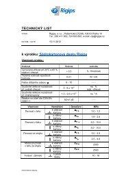 TL- Sádrokartonové desky - Rigips