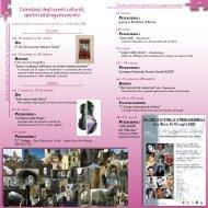Calendario degli eventi culturali, sportivi ed enogastronomici - Parco ...