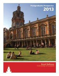 Postgraduate Prospectus - Royal Holloway, University of London