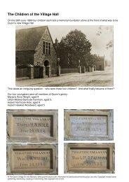 download in new window - Quorn Village On-line Museum