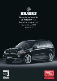 Gesamtprogramm für GL-Klasse (X 164) Complete ... - Brabus