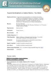 Posgrado Interdisciplinario en Cuidados Paliativos – 8va ... - FMV