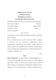 Trib di Catania - IV sezione civile - sentenza n ... - Dirittoefinanza.it