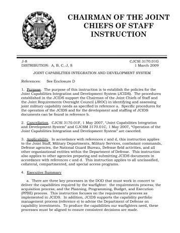 Chairman of the joint chiefs of staff manual integrated for Chair joint chiefs of staff