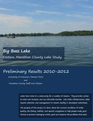 Big Bass Lake - Marathon County