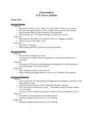 Existentialism CTY Course Syllabus