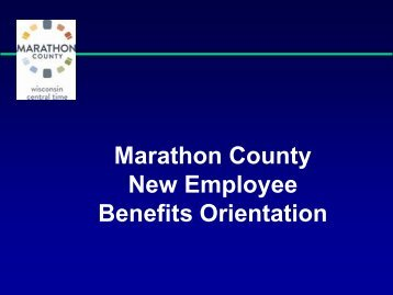 Benefit Plan - Marathon County