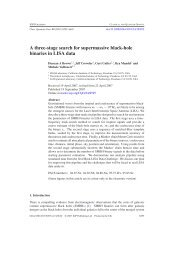 A three-stage search for supermassive black-hole binaries in LISA ...