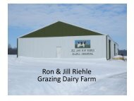 Year Round Management Practices for a Dairy and Diversified ...