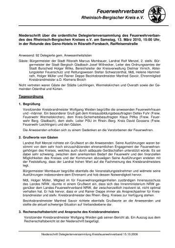 Niederschrift PDF-Download - Feuerwehrverband Rheinisch ...