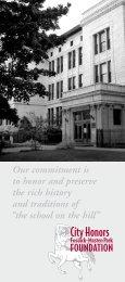 CH/FMP Brochure - City Honors School
