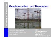 Gewässerschutz auf Baustellen - Kanton Zürich