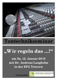"Tontechnikseminar ""Wir regeln das …!"" - Gjw-mv.de"