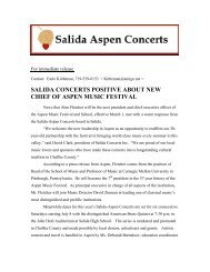 salida concerts positive about new chief of aspen music festival