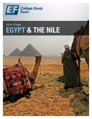 EGYPT & THE NILE - EF College Study Tours