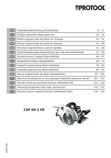 CSP 68-2 EB - Protool