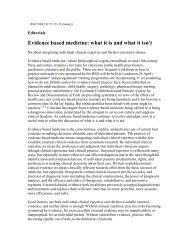 Evidence based medicine: what it is and what it isn't - NCOPE