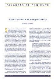Álvaro Valverde: El paisaje interior - Pliegos de Yuste