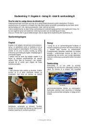 Studieretning 11: Engelsk A - biologi B - idræt B- samfundsfag B