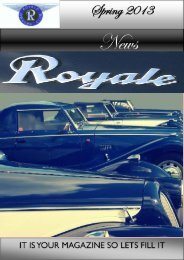 Spring 2013 - Royale Owners Club